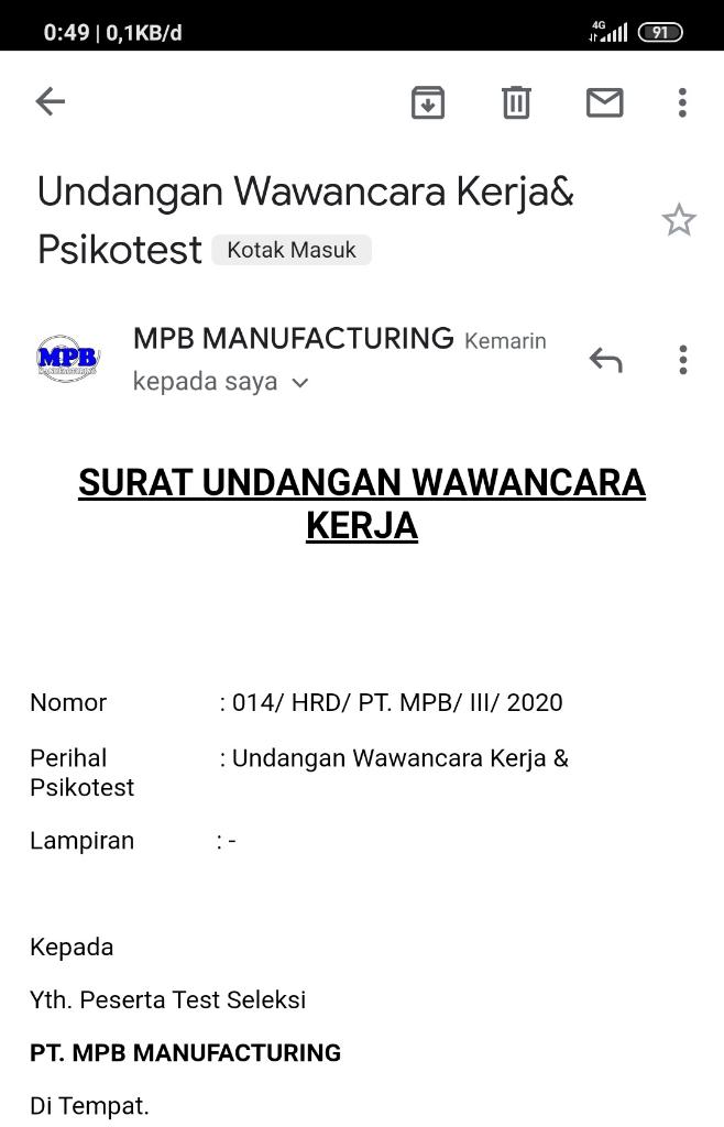 PT. MPB MANUFACTURING