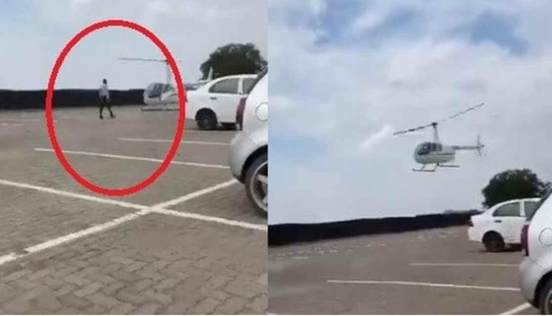 Jiwa Miskinku Kian Meronta Lihat Tas Mahasiswa Ini Diantar Pakai Helikopter