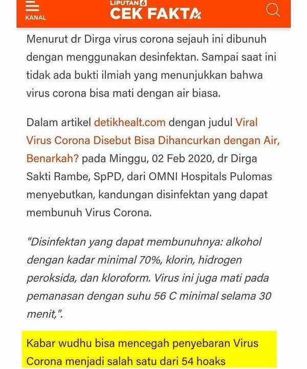Dianjurkan untuk Cegah Virus Corona, Ini Sejarah Wudhu
