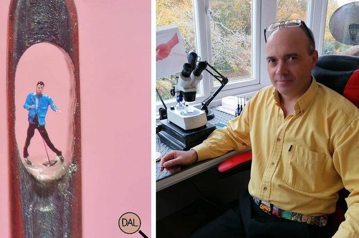 Seorang Seniman Membuat Patung Super Kecil Pada Lubang Jarum! Gimana Bikinnya Ya?