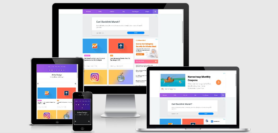 Download Template Arlina Design 100% Original [Premium] Gratis