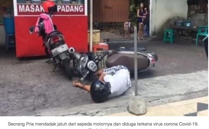 Disangka Kena Corona, Pria Epilepsi Jatuh dari Motor Bikin Polisi Ketakutan