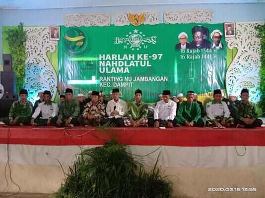 [HEBAT]!!!Desa Jambangan Peringati Harlah NU Ke-97 Hadirkan Bupati dan Ratusan Kader
