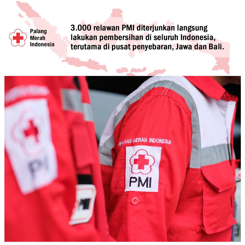 PMI Terjunkan 3.000 Relawan Untuk Melakukan Pembersihan Di Seluruh Indonesia