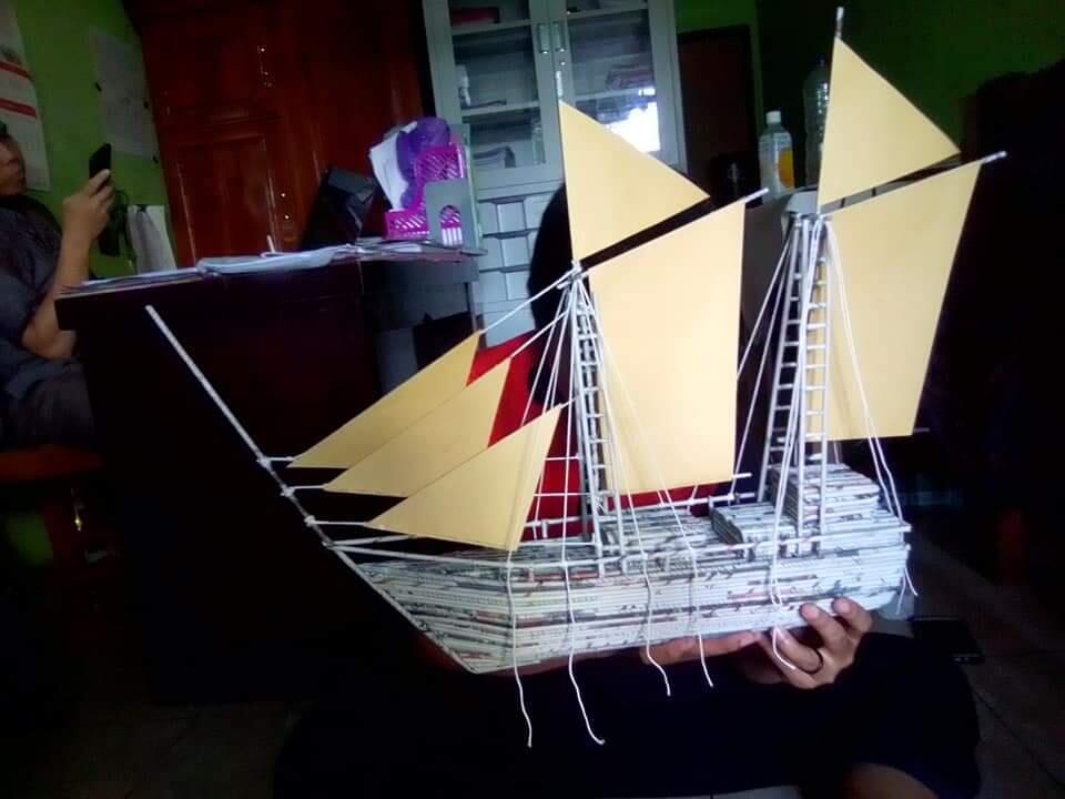 Kerajinan Tangan Dari Koran Bekas Jadi Perahu Super Keren.