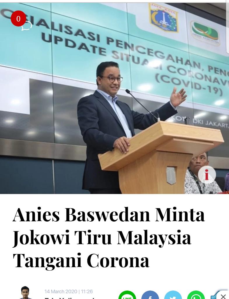 Gubernur Anies Akhirnya Tetapkan Jakarta Tanggap Darurat Bencana Covid-19