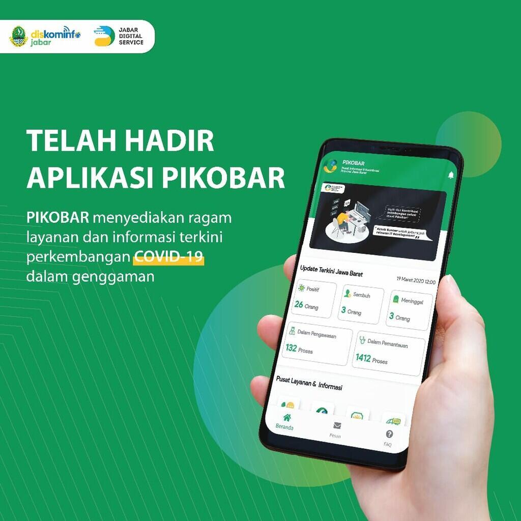 Ridwan Kamil Resmi Launching Aplikasi PIKOBAR