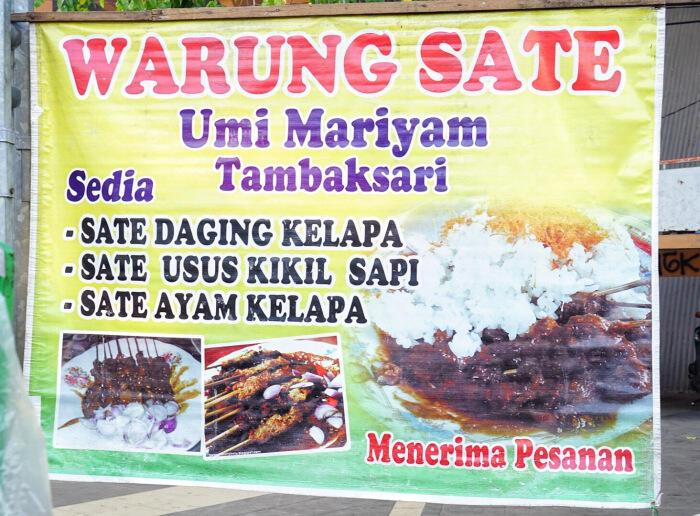 Sate Klopo Paling Enak Di Surabaya, Ondomohen lewat dan bisa pesen Gojek saat Corona