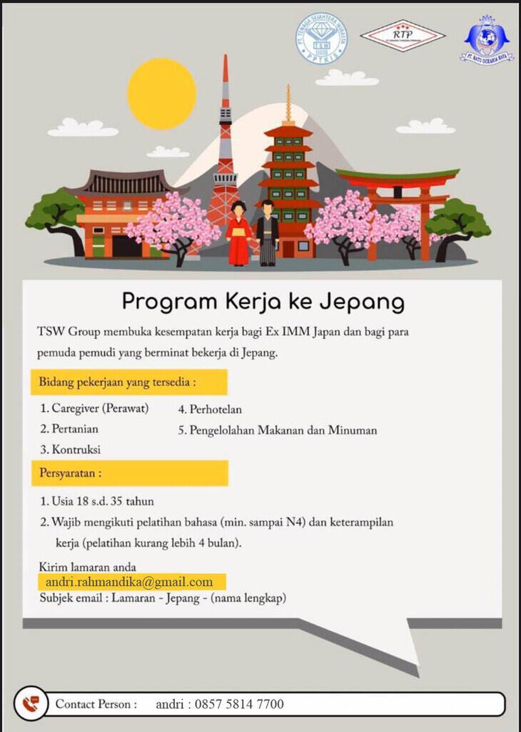 Peluang kerja di Jepang