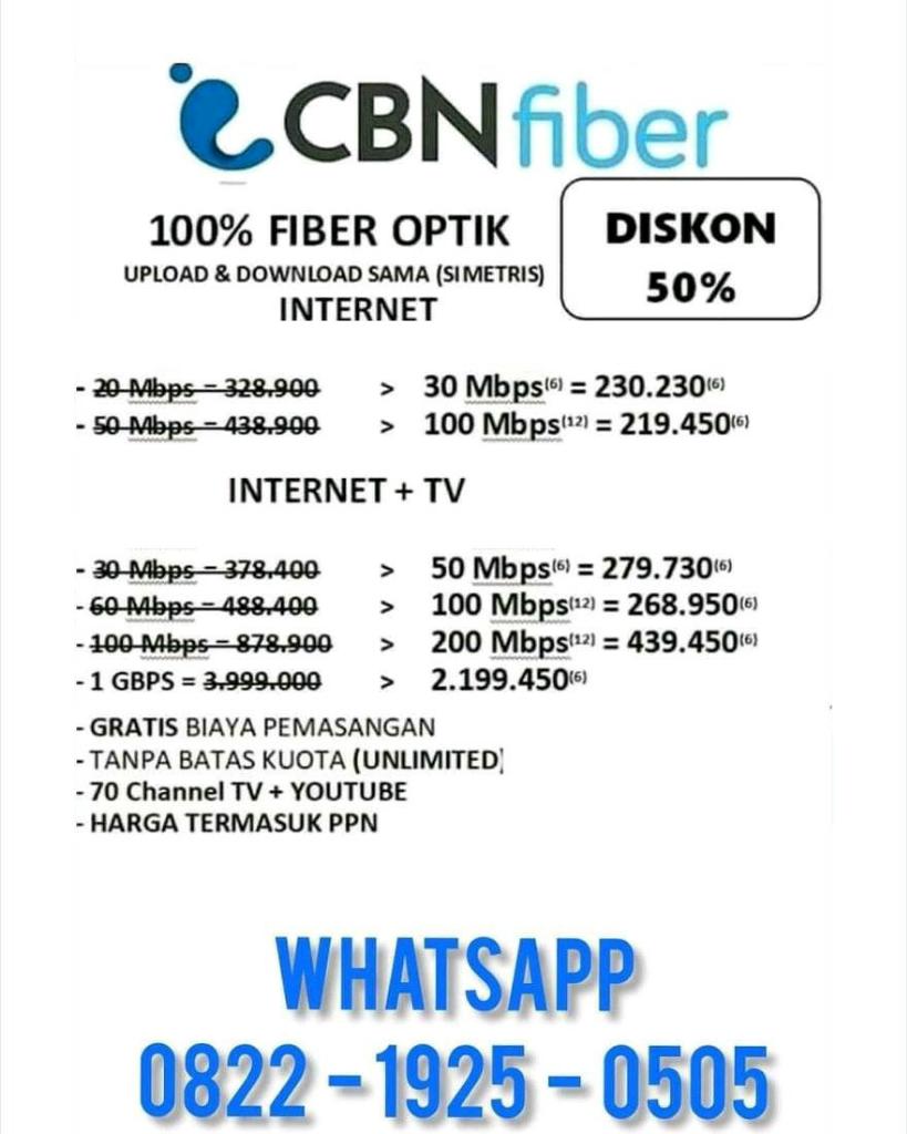 [Discusi] Pasang Internet CBN