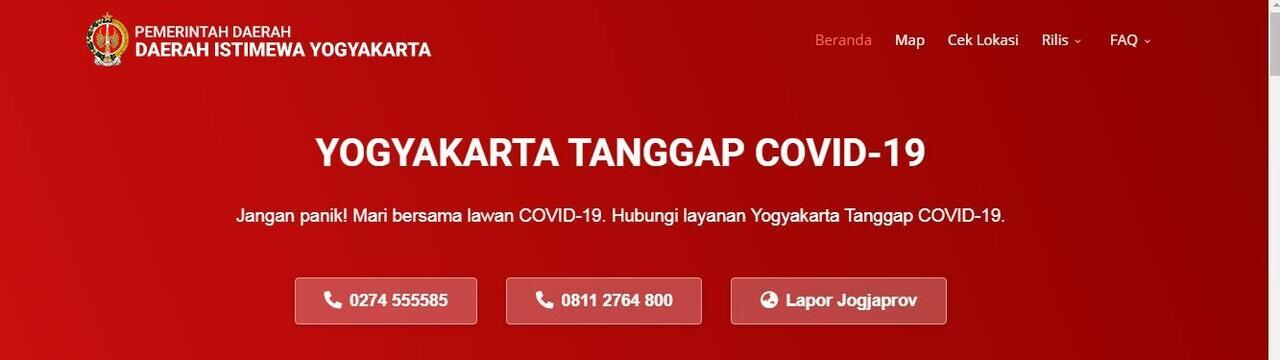BERBAGAI WEBSITE UPDATE INFO COVID-19