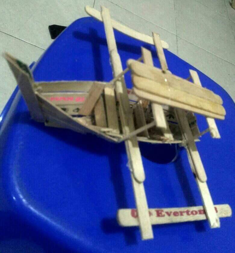 Kerajinan Tangan Dari Stick Ice Cream Jadi Perahu Keren, Mumpung Dirumah Yuk Buat Gan