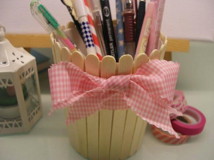 Mumpung Dirumah, Yuk Bikin Kerajinan Tempat Pensil Dari Stik Es Krim Gan!
