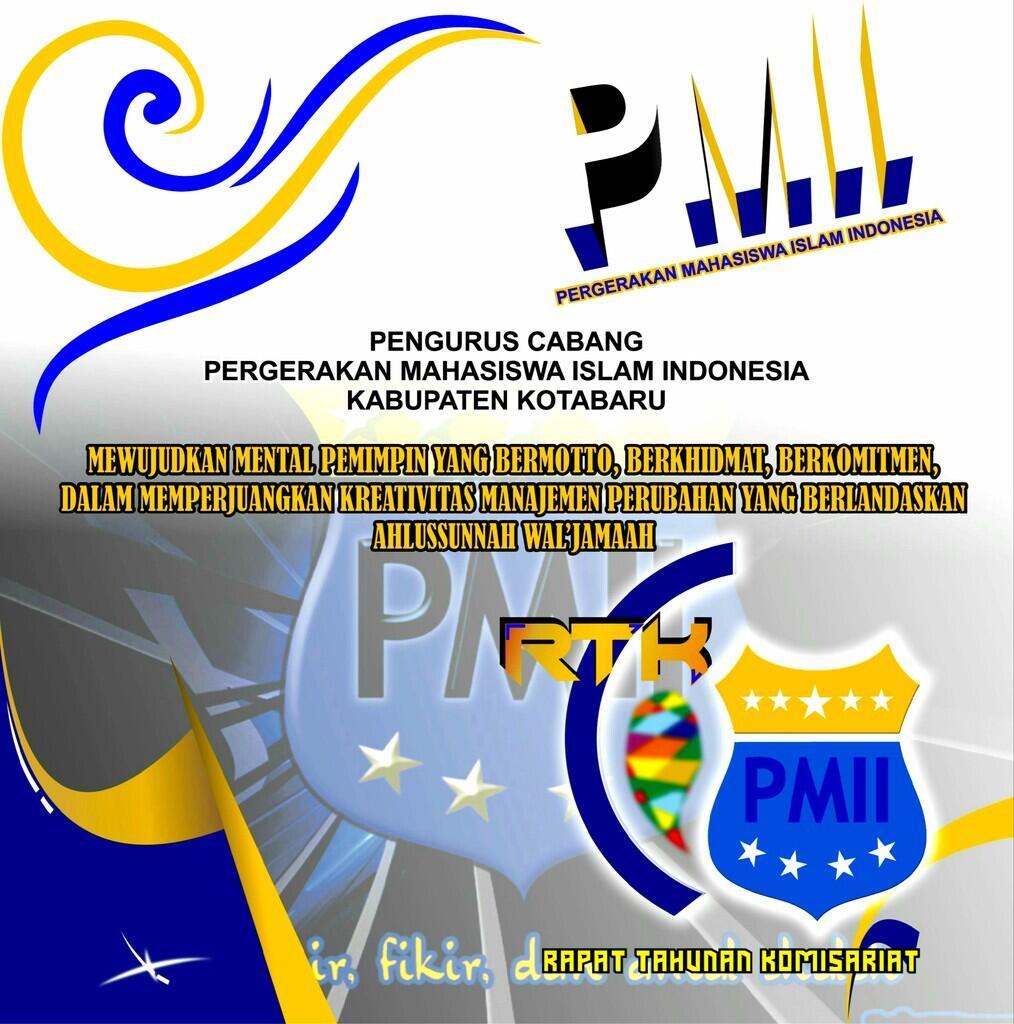 Desain pamflet background PMII | Corel draw