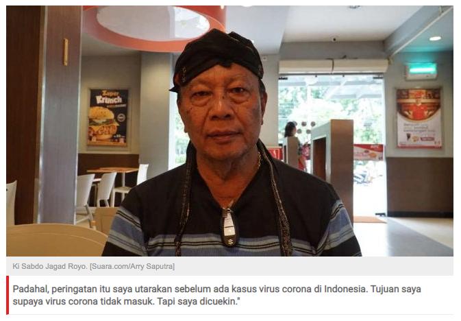 Presiden Alam Gaib Kesal: Dulu Jokowi Sudah Saya Peringatkan soal Corona