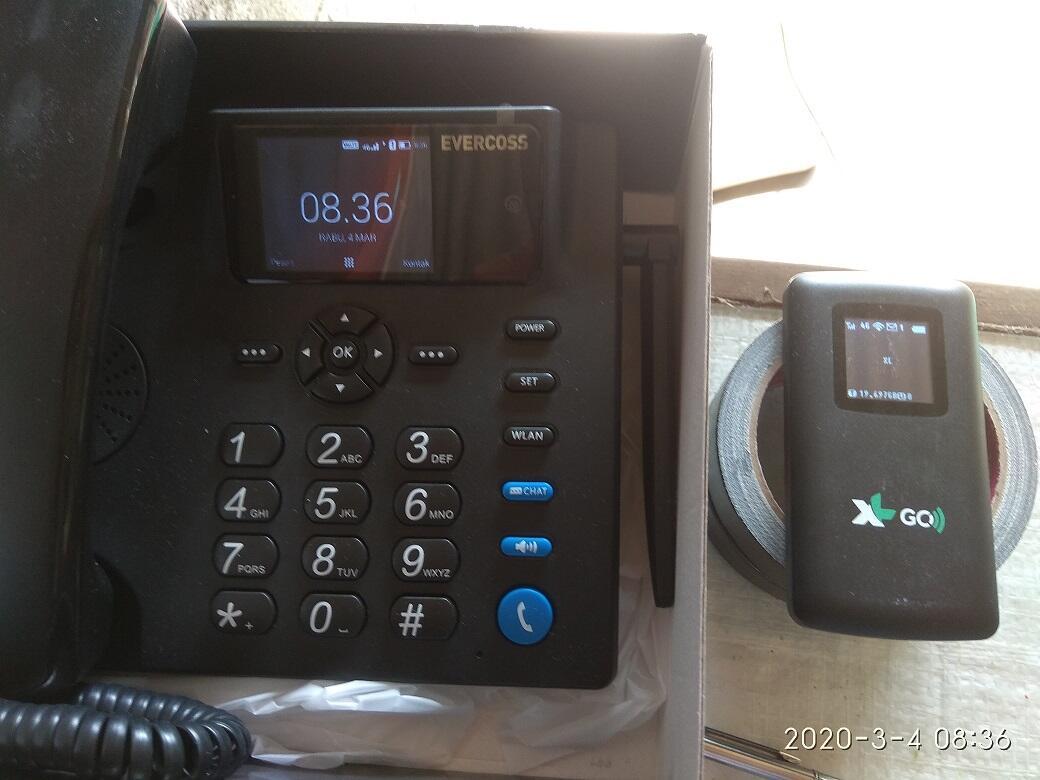 [REVIEW] Deskphone Evercoss DS01 telepon 4G LTE wifi hotspot call chat vc multifungsi
