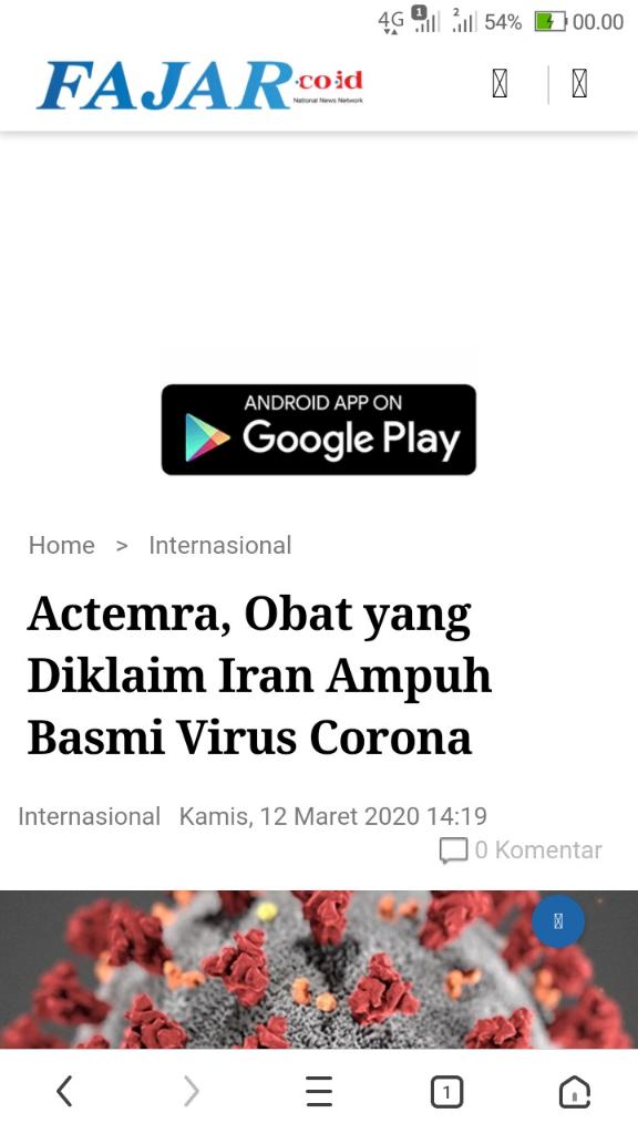 Ilmuwan Sebut Obat Radang Sendi Bisa Sembuhkan Pasien Virus Corona