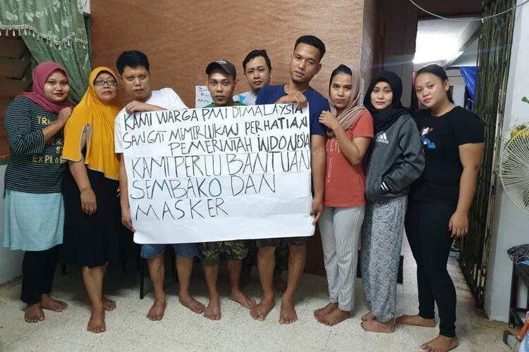 Malaysia Lockdown, Pekerja Indonesia di Ambang Kelaparan, Minta Bantuan Sembako