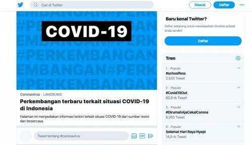 Ini Dia Pusat Informasi Covid – 19 di Indonesia Ala Twitter