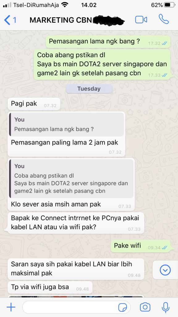 Kecewa Dengan SALES CBN Di Medan