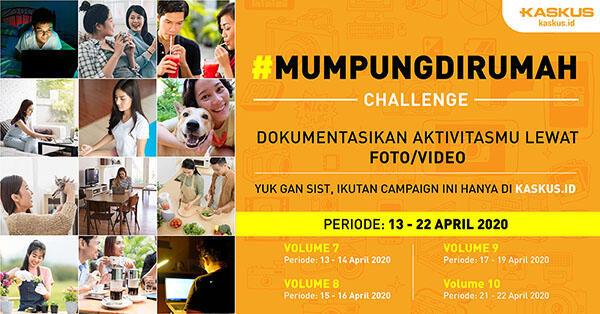 Iseng Kelamaan di Rumah, Yuk Ikutan #Mumpungdirumah Challenge Vol. 8, Meluncur Gan !