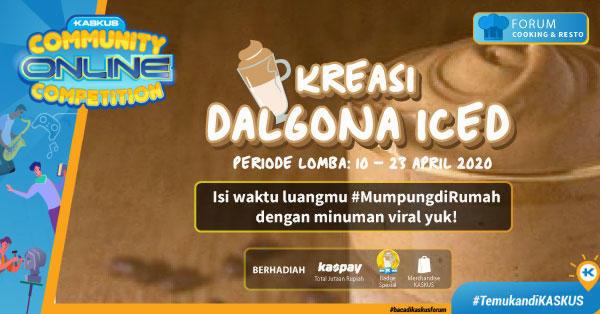 [COC_Cooking2020]Dalgona Coffee Rumahan Ala-Ala Penuh Cerita Dan Perjuangan