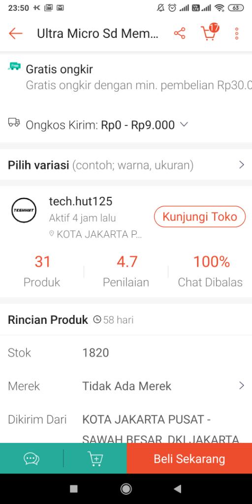 Shopee : Tech Hut PENIPUAN SANDISK