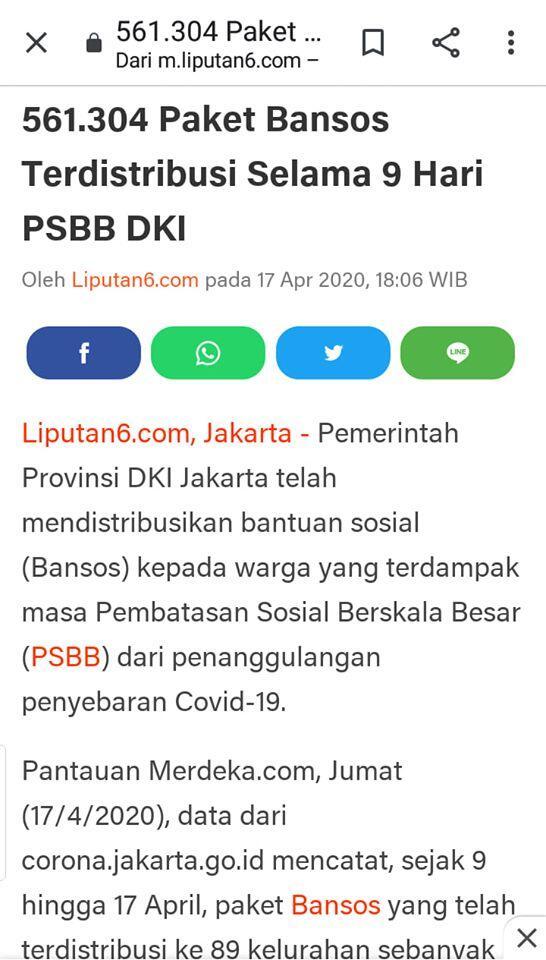 IBC Temukan 4 Kejanggalan Bansos PSBB dan Kebijakan Anggaran DKI Jakarta