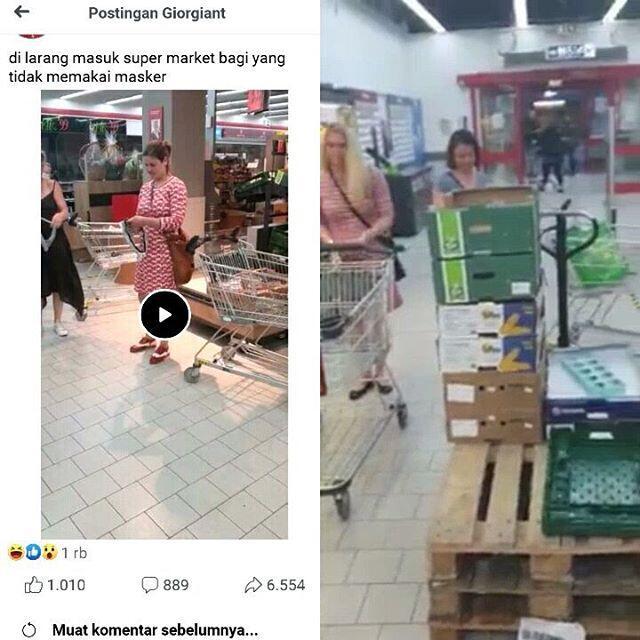 Video Wanita Lepas Celana Dalam Di Supermarket Buat Dijadiin Masker Gans!