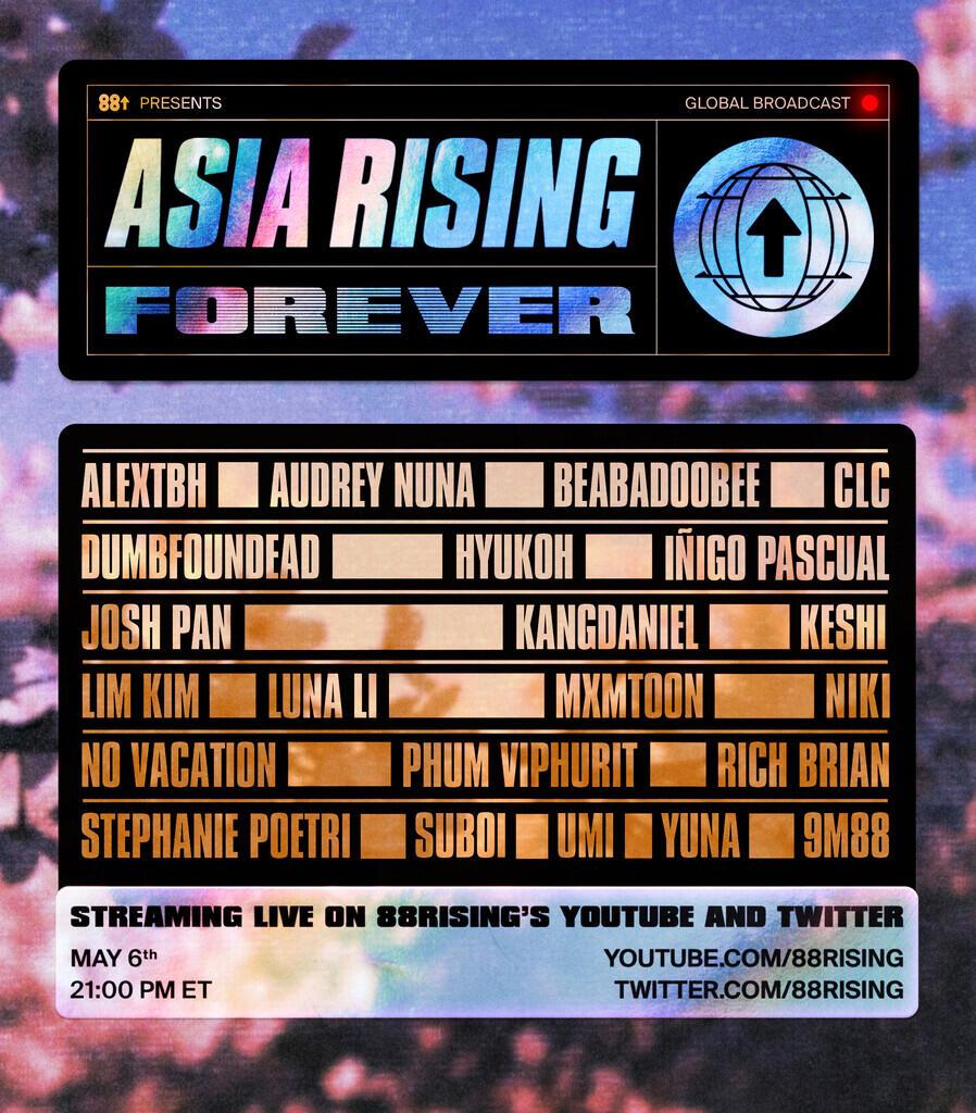 [Live Streaming] Festival Musik ASIA RISING FOREVER dari 88Rising