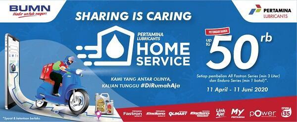 Ada Promo Menarik, Ini Cara Gunakan Layanan Pertamina Lubricants Home Service