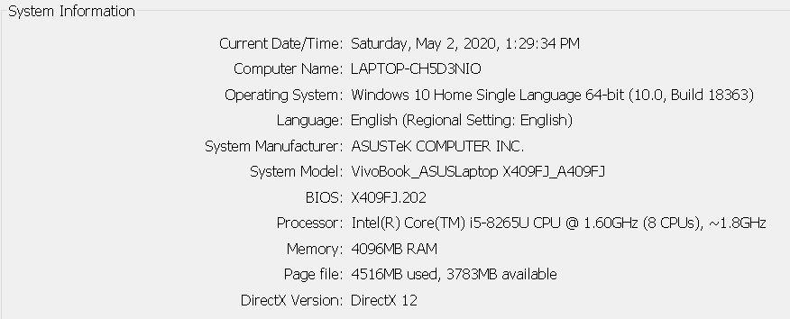 [HELP] Laptop Asus i5 Blackscreen Win10 Ori bawaan