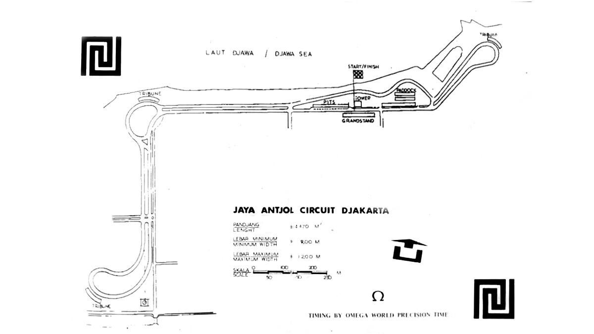 Inilah sirkuit balap pertama indonesia sebelum adanya Sirkuit Sentul