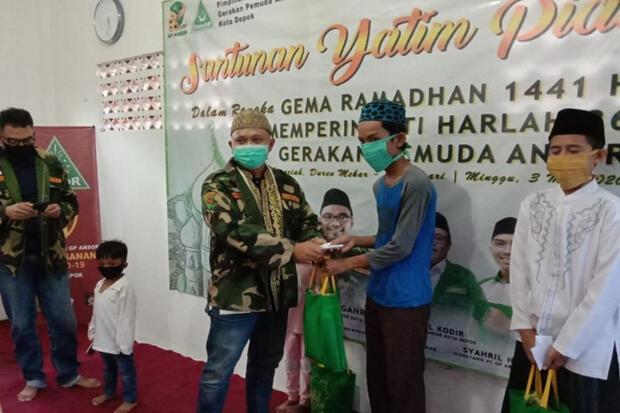 GP Ansor Depok Santuni Yatim Piatu Terdampak Covid-19