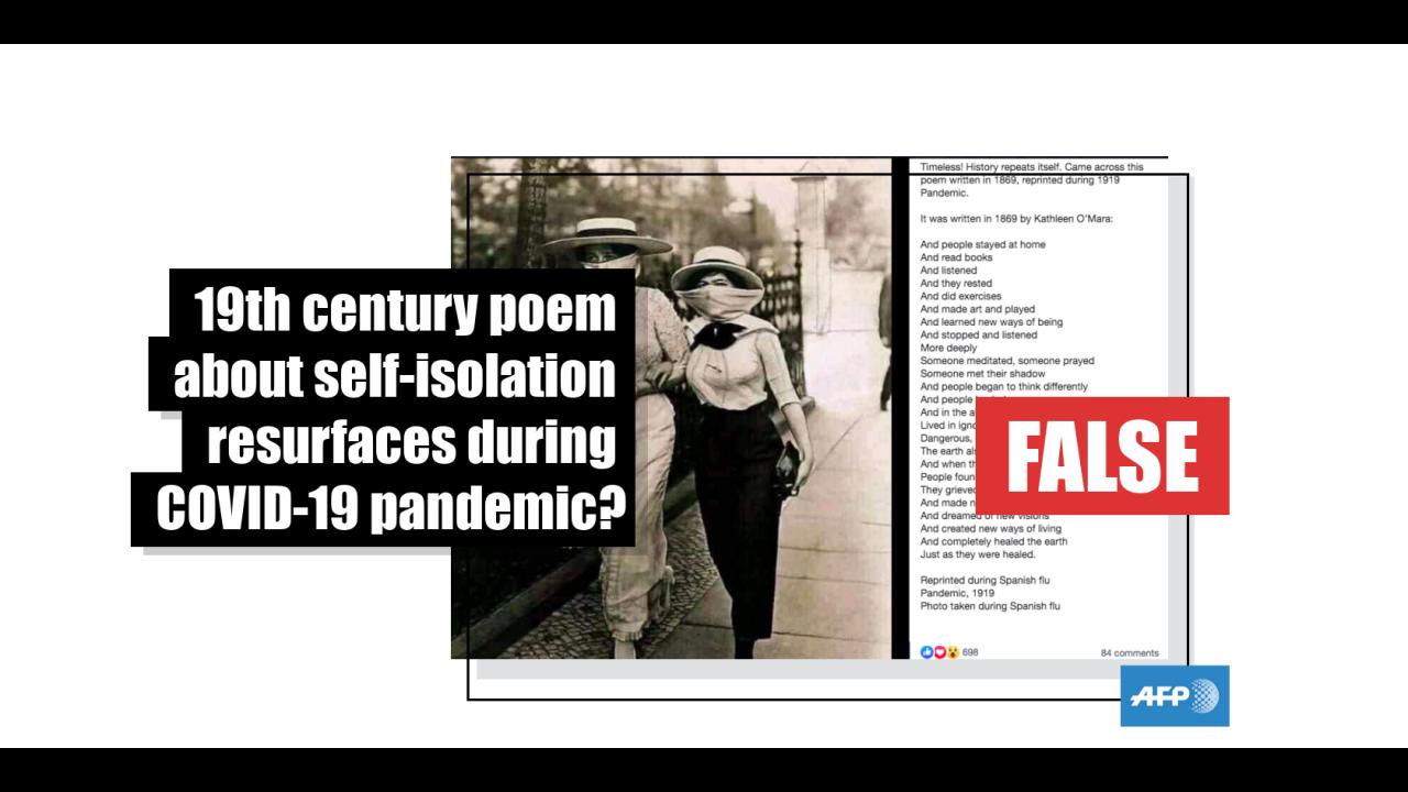 Ramai Dibahas, Benarkah Puisi Tahun 1919 Tentang Pandemi Berkaitan dengan Covid-19?