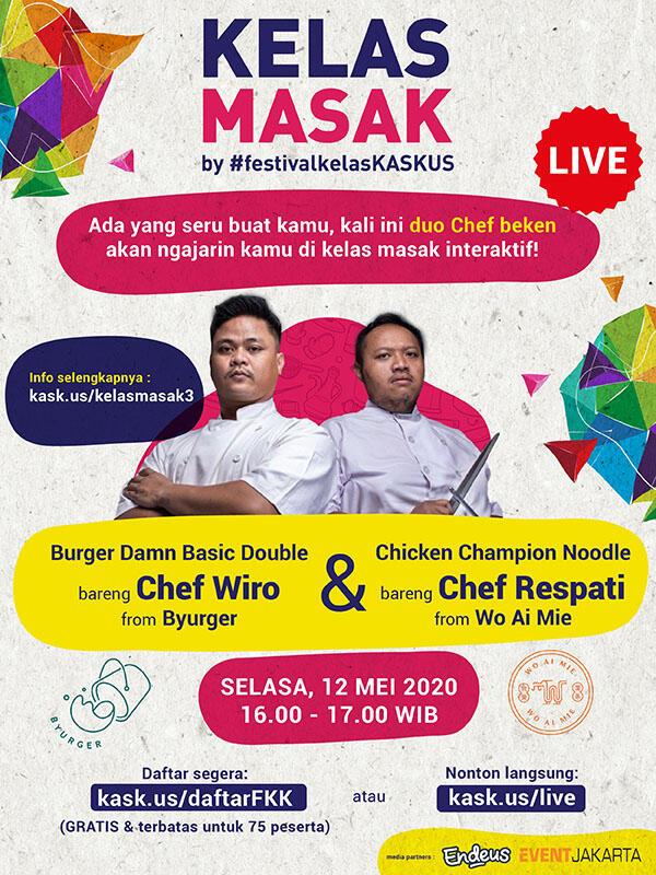 Mari Bikin Burger dan Mie Sendiri Bareng Chef Wiro & Chef Respati!