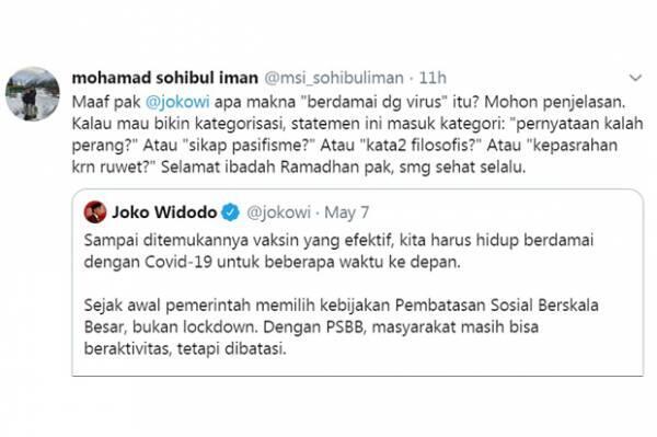 PKS: Maaf Pak Jokowi, Apa Makna 'Berdamai dengan Covid-19'