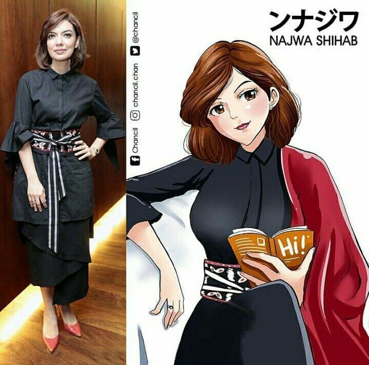 Gini nih jadinya kalau Publik Figur Indonesia diubah jadi karakter Anime !
