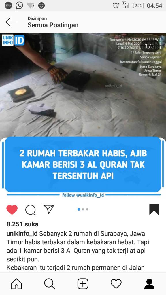2 Rumah Hangus Terbakar, 1 Kamar Selamat karena Terdapat 3 Al-Qur'an di Dalamnya!
