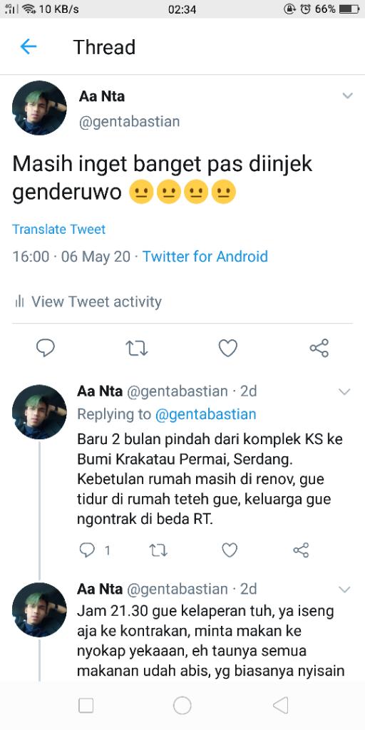Diinjek Genderuwo