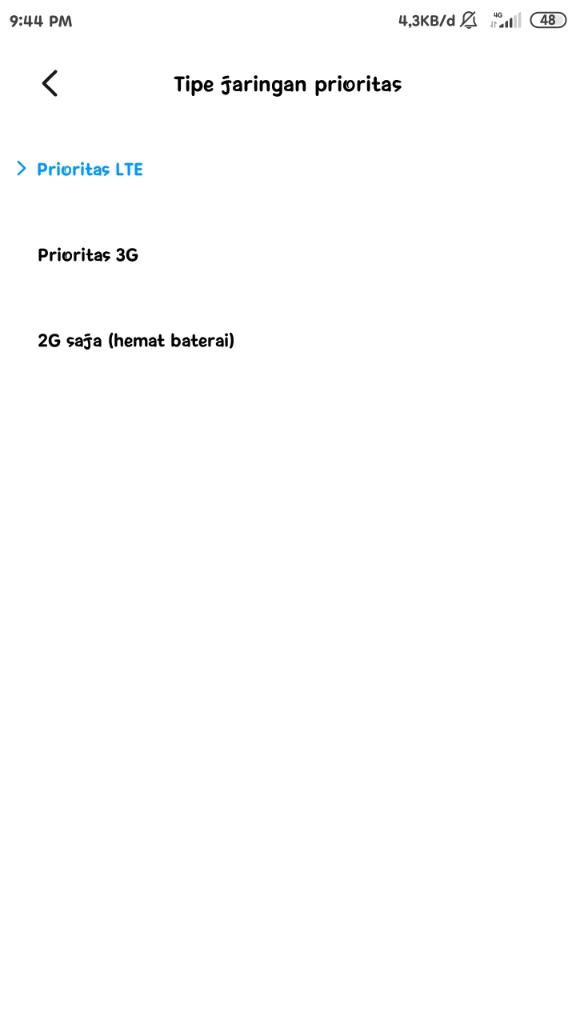 Signal 3G Hilang