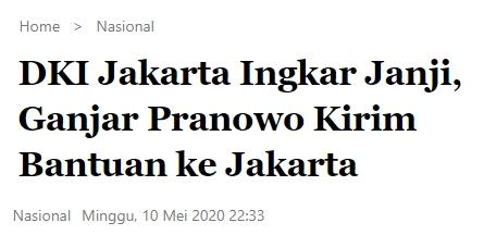 Pemprov DKI Jakarta tak Memenuhi Janji, Akhirnya Ganjar Bertindak Sendiri
