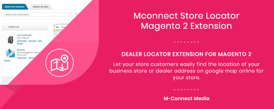Mconnect Store Locator / Google Map Extension for Magento 2
