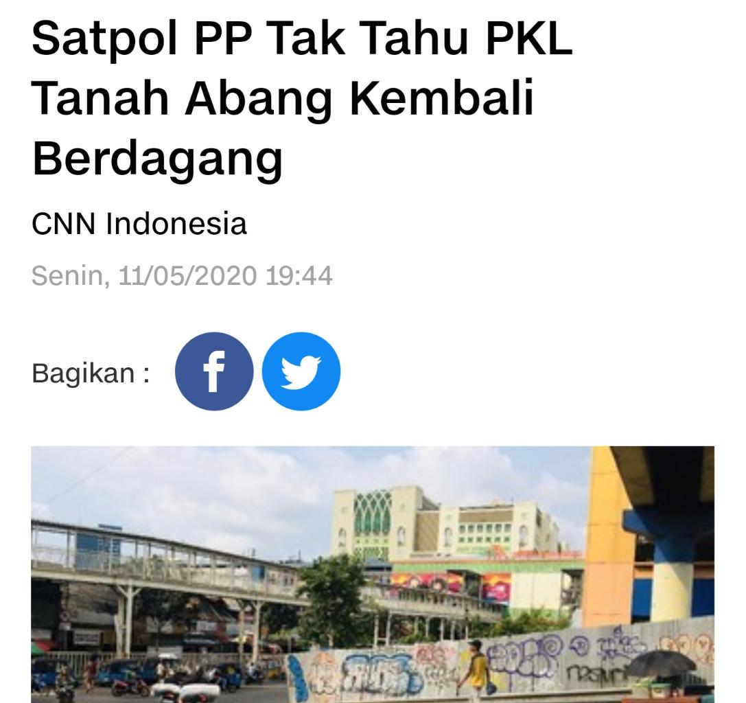 Masa PSBB Jualan Lagi, PKL Pasar Mampang: Mending Mati di Luar Daripada Diam di Rumah