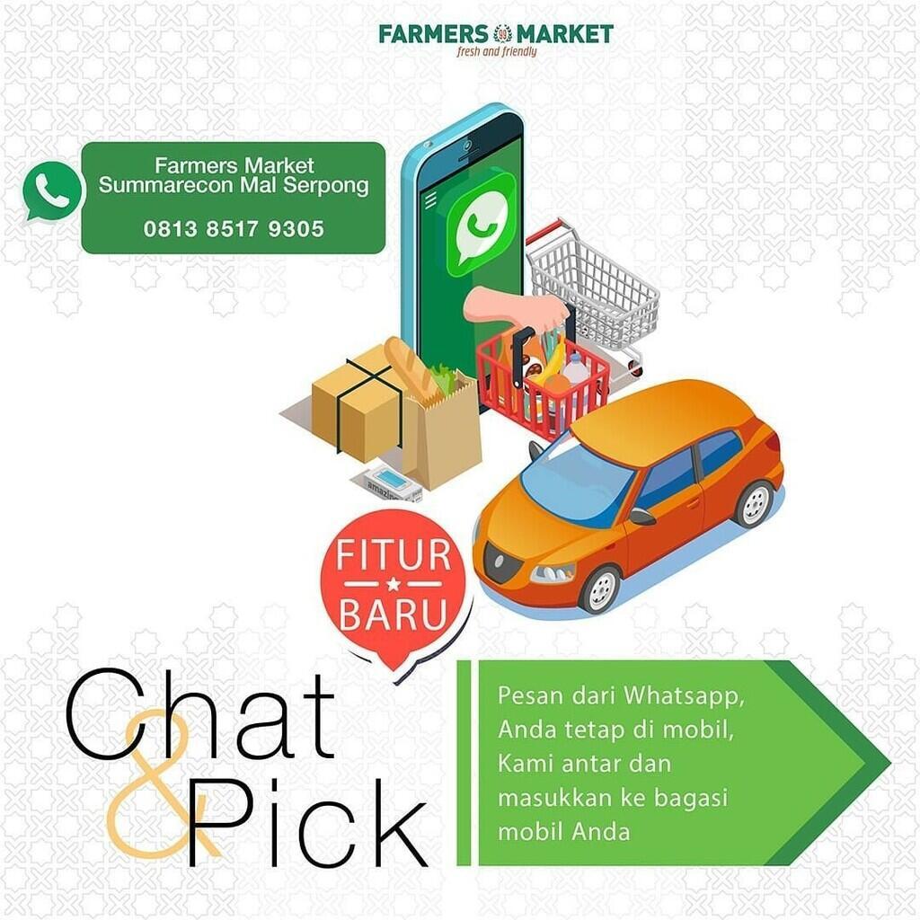 Farmers Market Summarecon Mall Serpong Hadirkan Layanan Chat & Pick