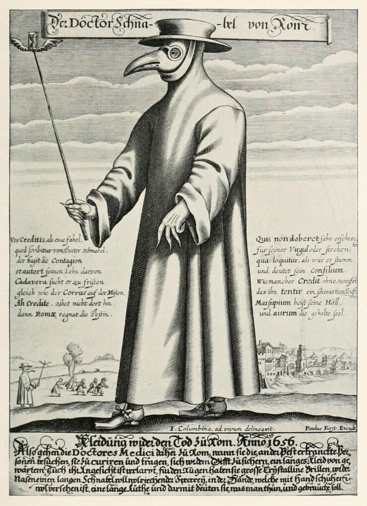 Serem! Pakaian Dokter Saat Wabah pada Zaman Dulu Ini Kini Malah Jadi Simbol Kematian