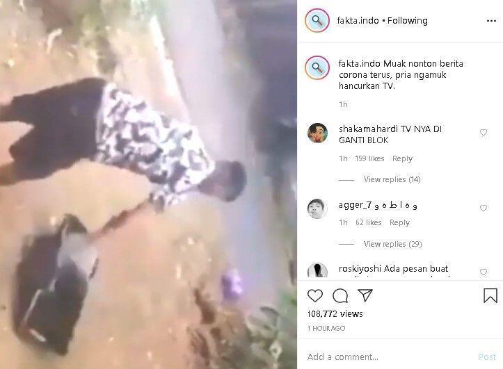Pria Murka Banting TV sampai Hancur, Diduga Gegara Muak Lihat Berita Corona