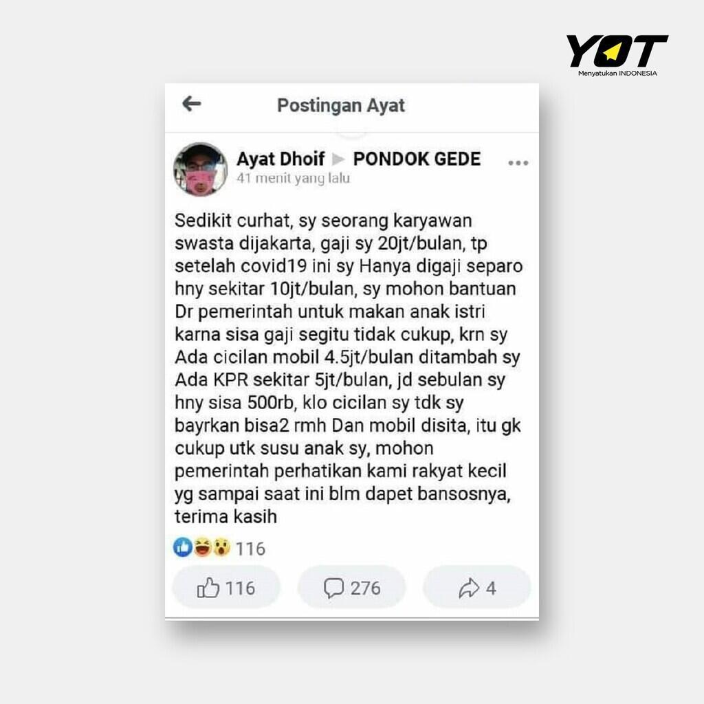 Viral Gaji 20 juta Masih 'Kurang', Hmm Jadi Salah Gaji Atau Orangnya Nih Gan?