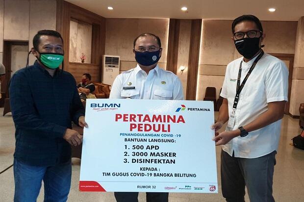 Pertamina Beri Bantuan Medis Pencegahan Covid-19 di Bangka Belitung