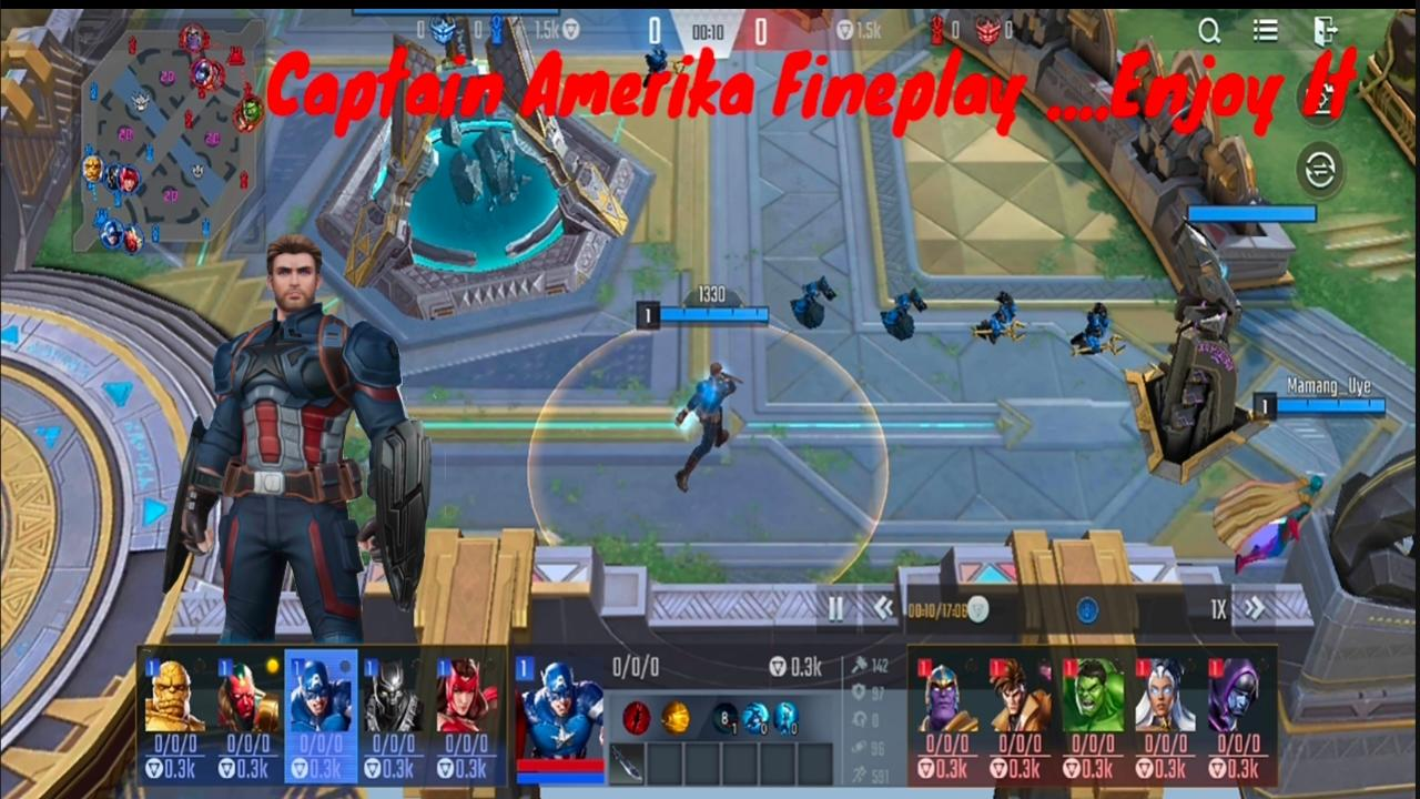 Captain Amerika, Ancient One And Invicible Woman Gameplay Marvel Super War